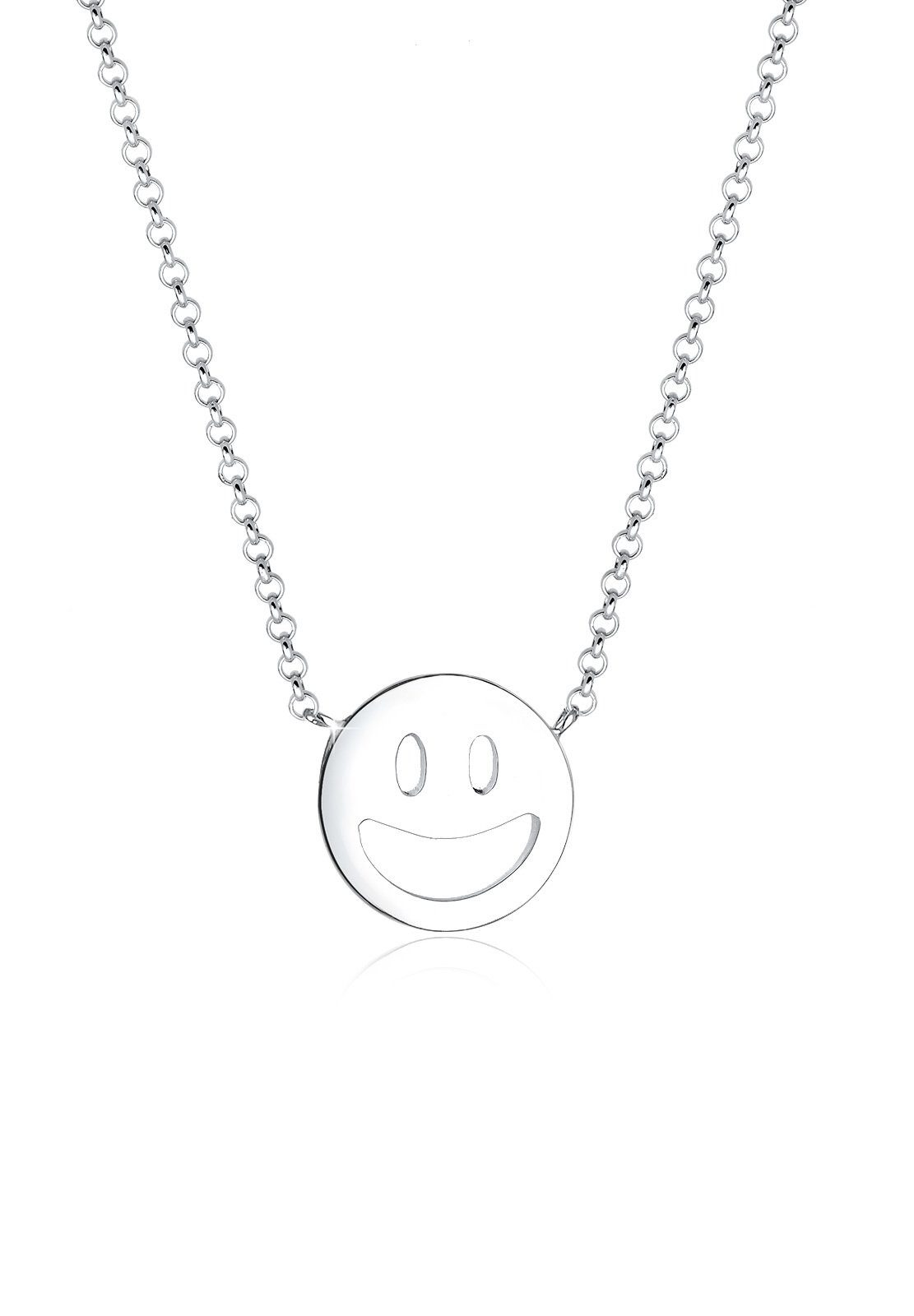 Elli Collierkettchen »Smiley Face Emoji Happy 925 Sterling Silber«