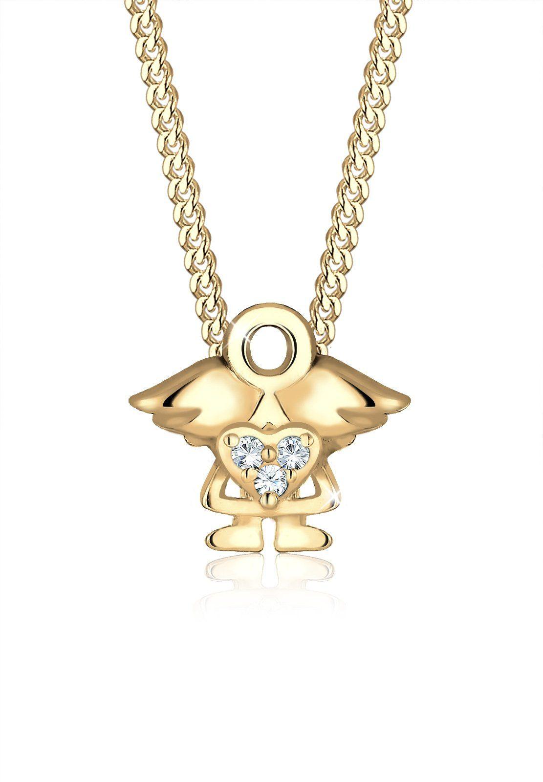 Elli Collierkettchen »Kinder Engel Swarovski® Kristalle 925 Silber«