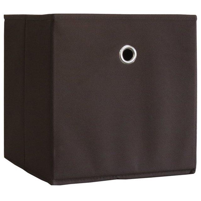 VCM Stoffbox Boxas Dunkelbraun ohne Deckel 10 Stück