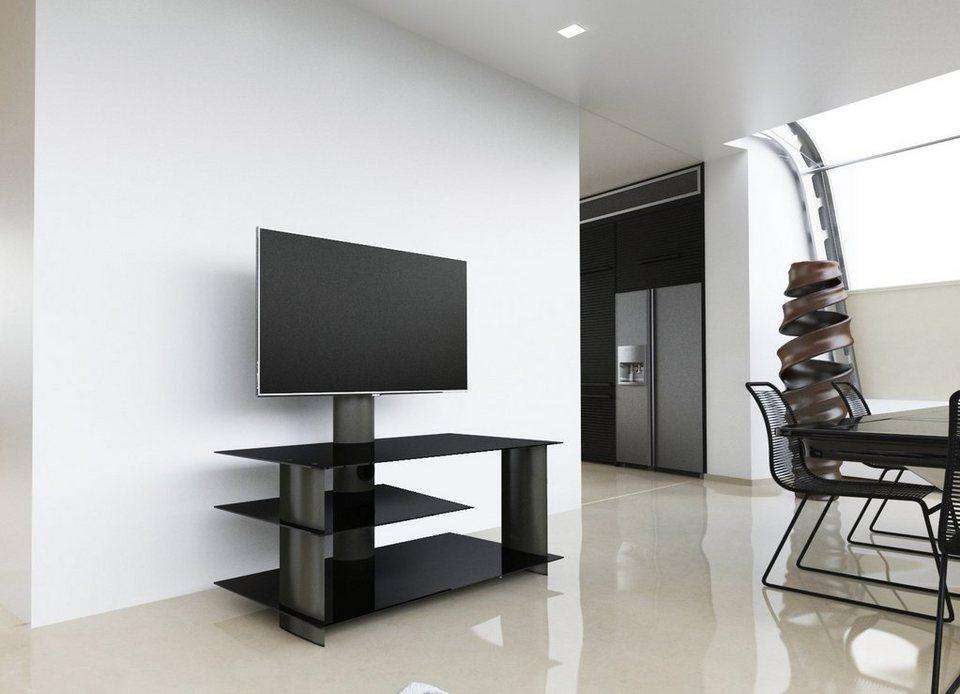 vcm tv m bel bulmo schwarz s ulen aus hochwertigem. Black Bedroom Furniture Sets. Home Design Ideas