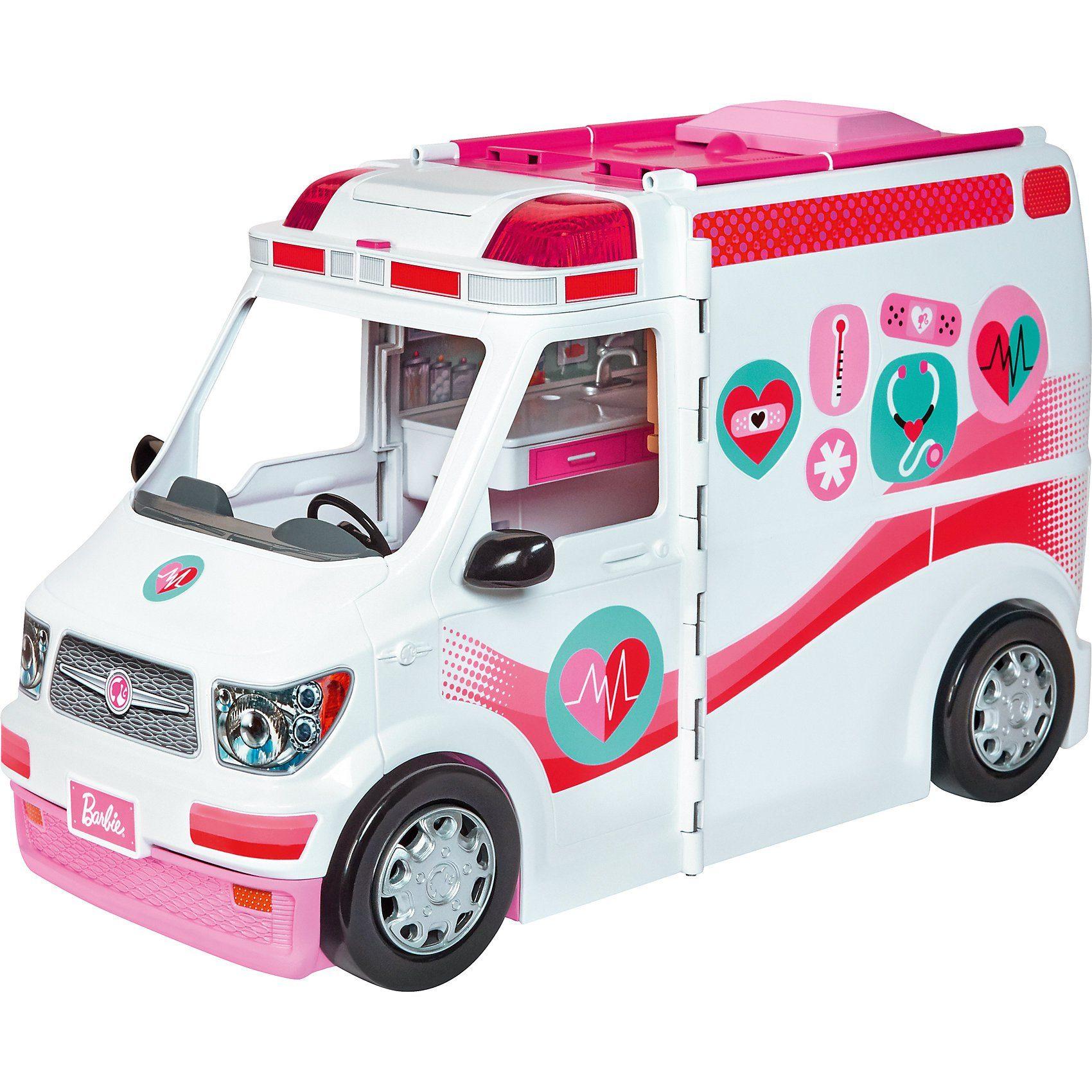 Mattel Barbie 2-in-1 Krankenwagen Spielset (mit Licht & Geräuschen)