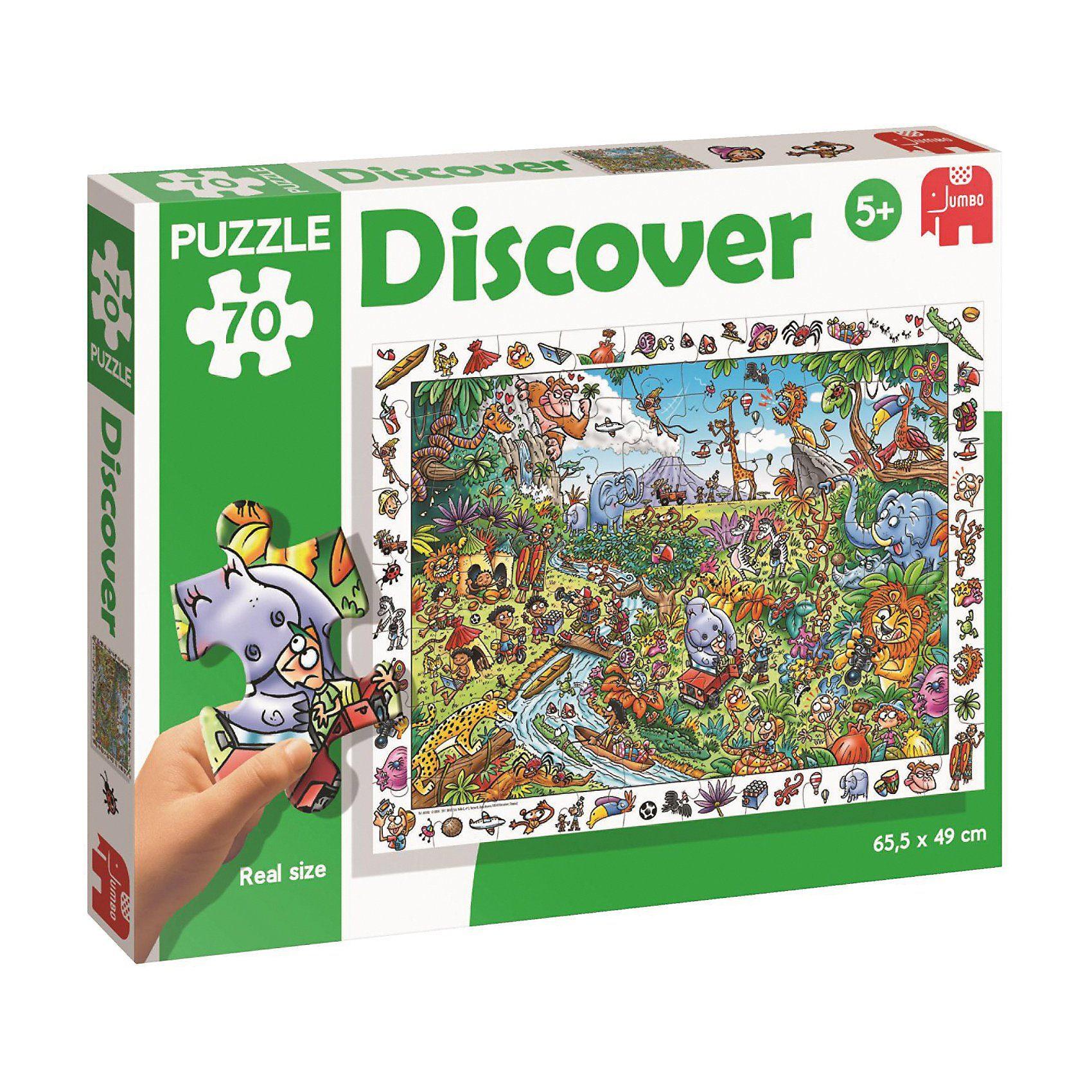 Jumbo Discover-Puzzle - 70 Teile - Safari