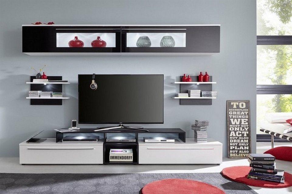 hti living anbauwand top f r ein trendiges wohnambiente online kaufen otto. Black Bedroom Furniture Sets. Home Design Ideas