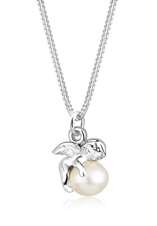 Elli Perlenkette »Engel Süßwasserzuchtperle 925 Sterling Silber« | Schmuck > Halsketten > Perlenketten | Weiß | Elli