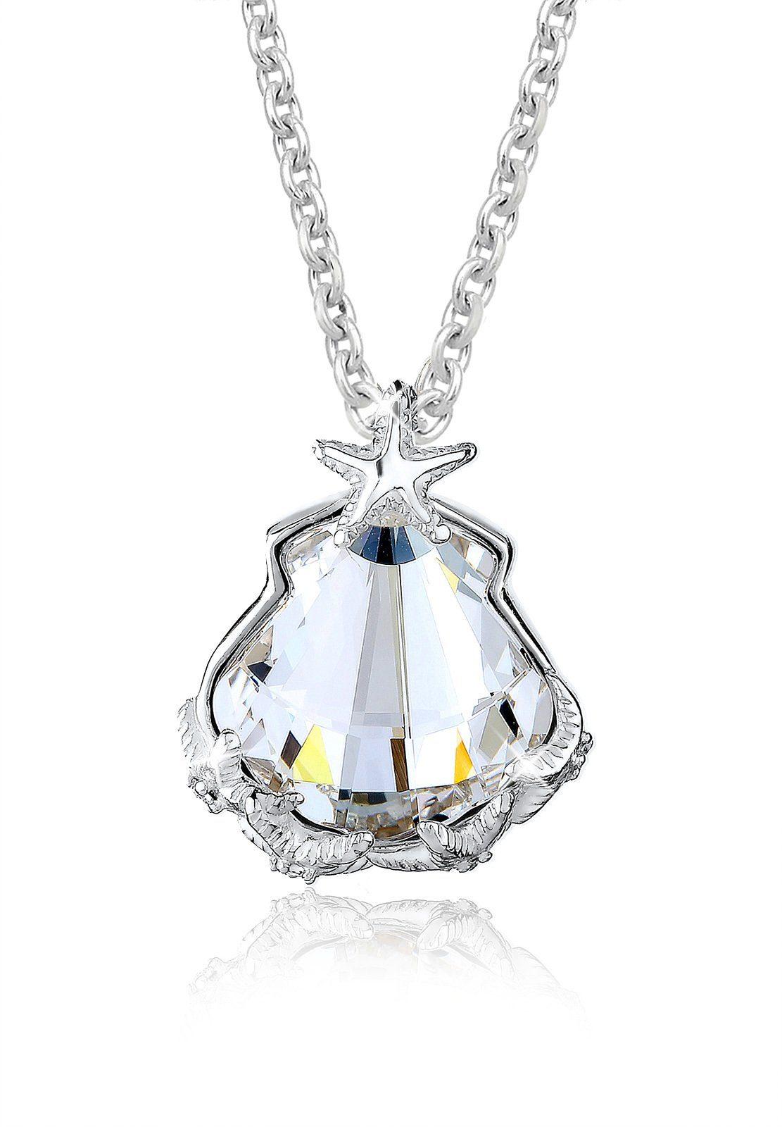Elli Collierkettchen »Muschel Seestern Swarovski® Kristalle 925 Silber«