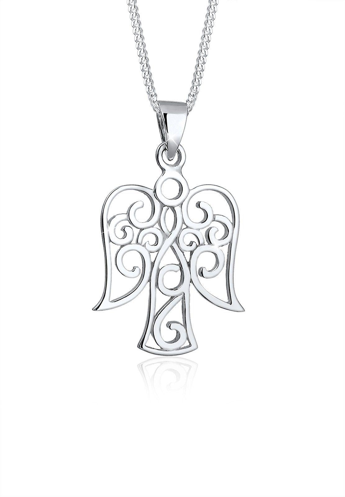 Elli Collierkettchen »Engel Ornament 925 Sterling Silber«