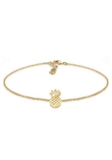 Elli Fußkette »Ananas Pineapple Tropical 925 Sterling Silber«