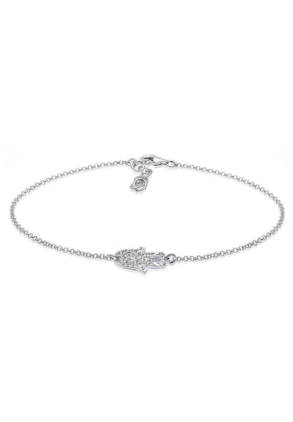 Elli Fußkette mit Anhänger »Hamsa Swarovski® Kristalle 925 Silber«