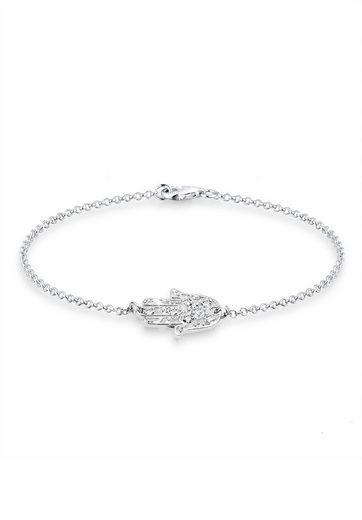 Elli Armband »Hamsa Hand Swarovski® Kristalle 925 Silber«