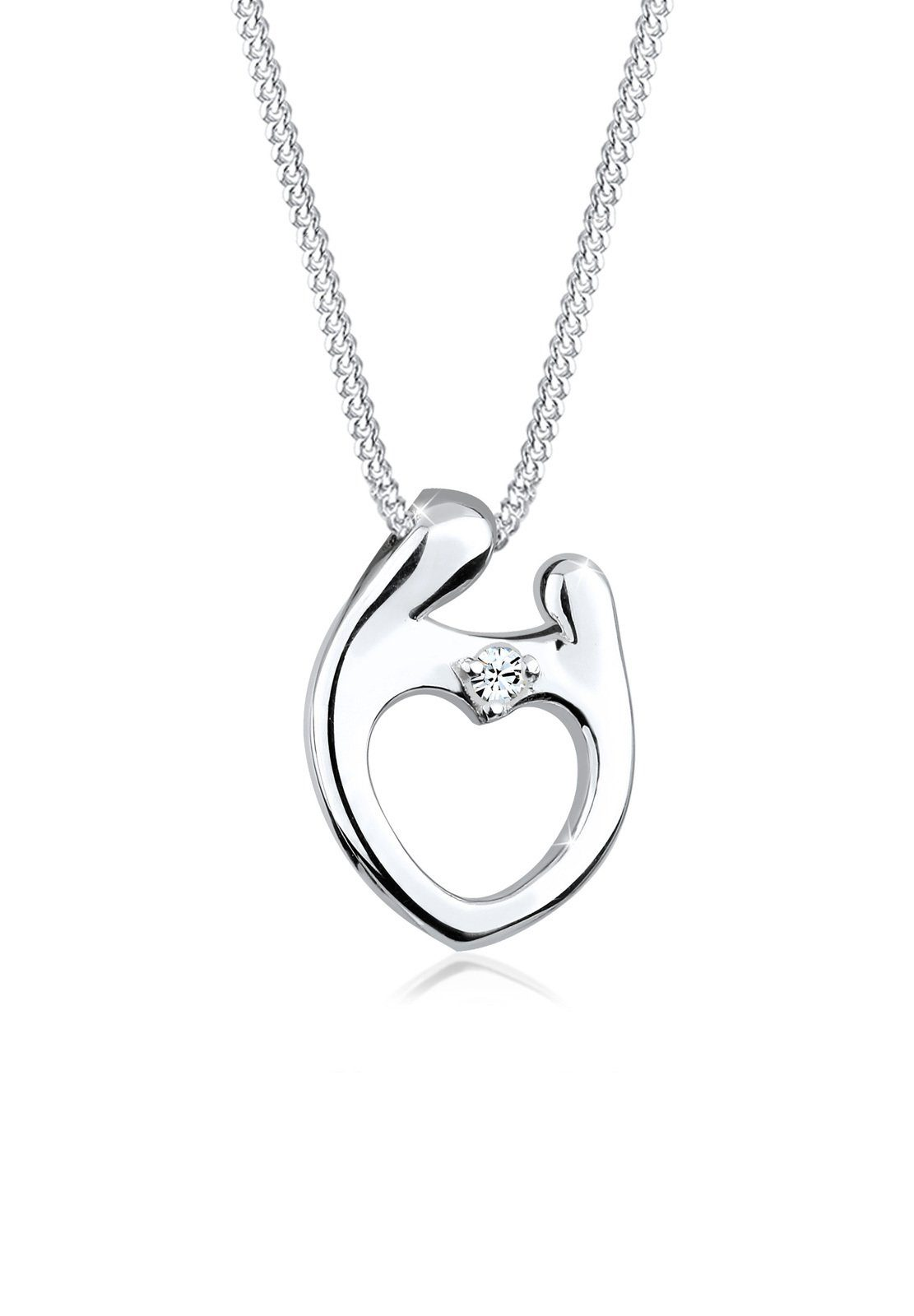 Elli Collierkettchen »Muttertag Swarovski® Kristalle 925 Silber«