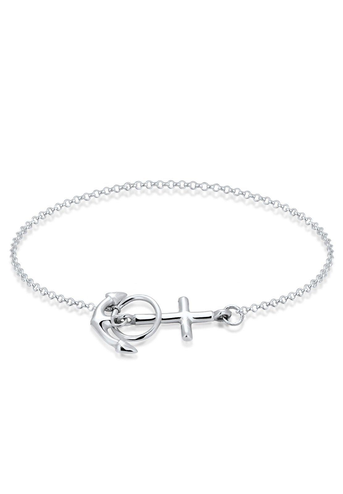 Elli Armband »Anker Kreuz 925 Sterling Silber« | Schmuck > Armbänder > Silberarmbänder | Elli