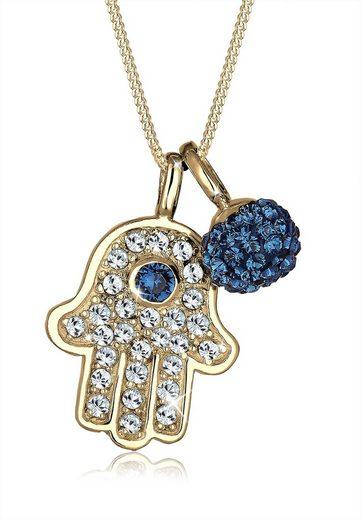 Elli Collierkettchen »Hamsa Hand Swarovski® Kristalle 925 Silber Grigri«
