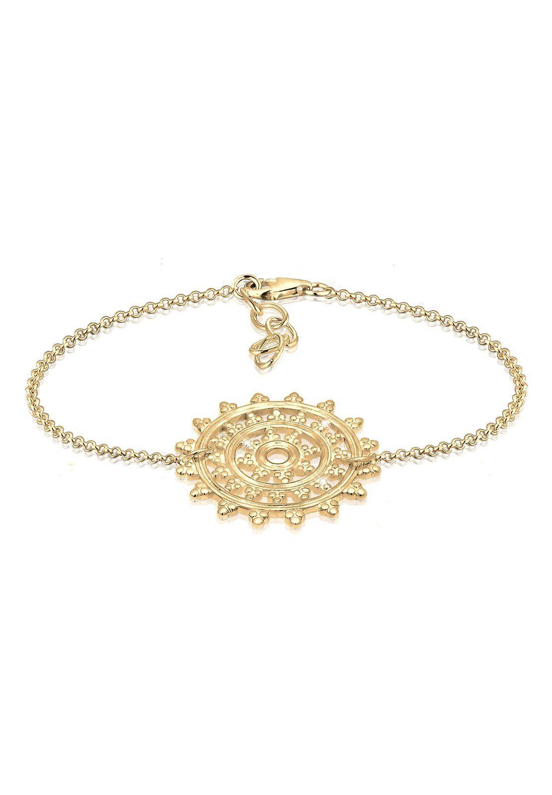 Elli Armband »Ornament Karma Sonne Kreis 925 Sterling Silber«