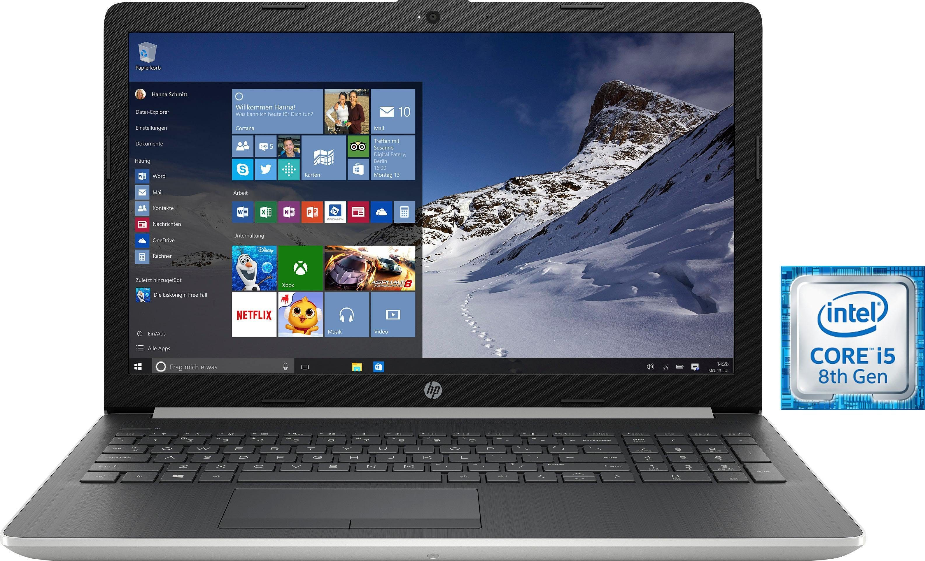 HP 15-da0201ng Notebook (39,6 cm/15,6 Zoll, Intel Core i5, 1000 GB HDD, 16 GB SSD, inkl. Office 365 Personal (ESD)