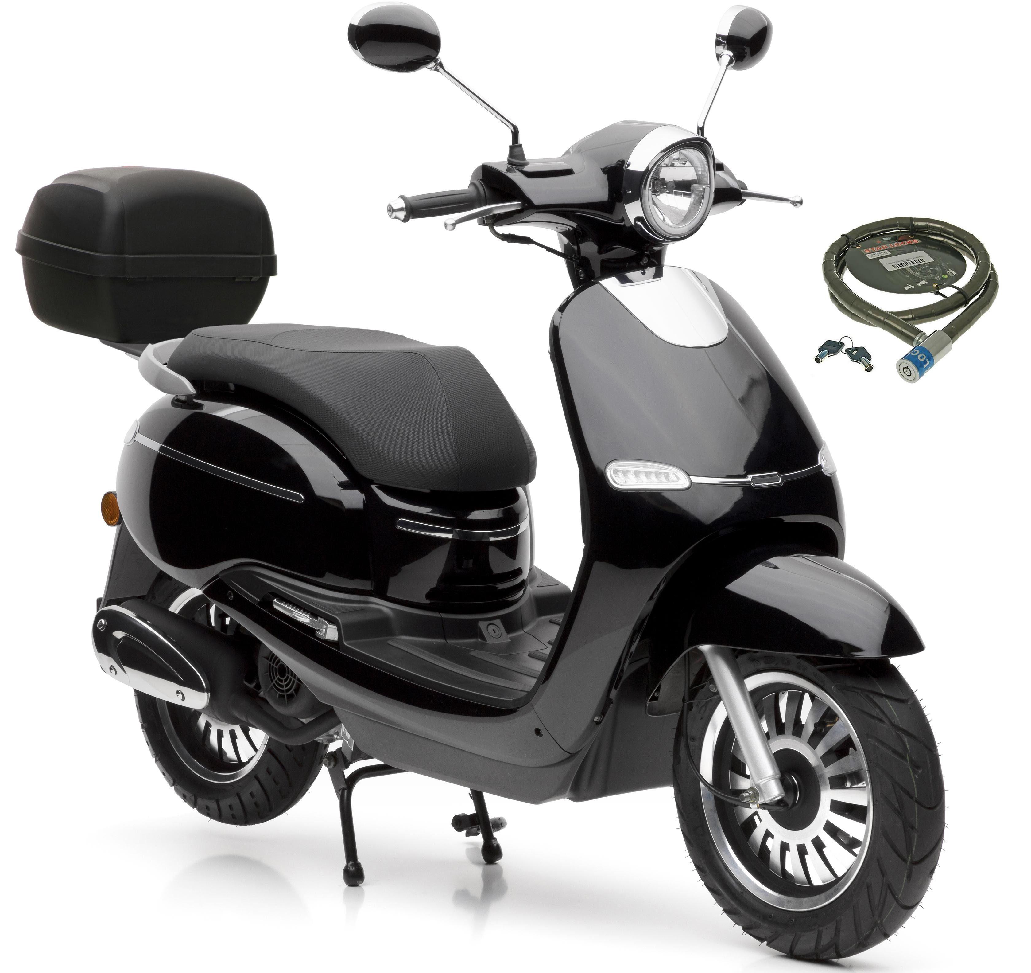 Nova Motors Motorroller »F10«, 49 ccm, 45 km/h, Euro 4, (Set, mit Topcase), inkl. Topcase, 49 ccm, 45 km/h
