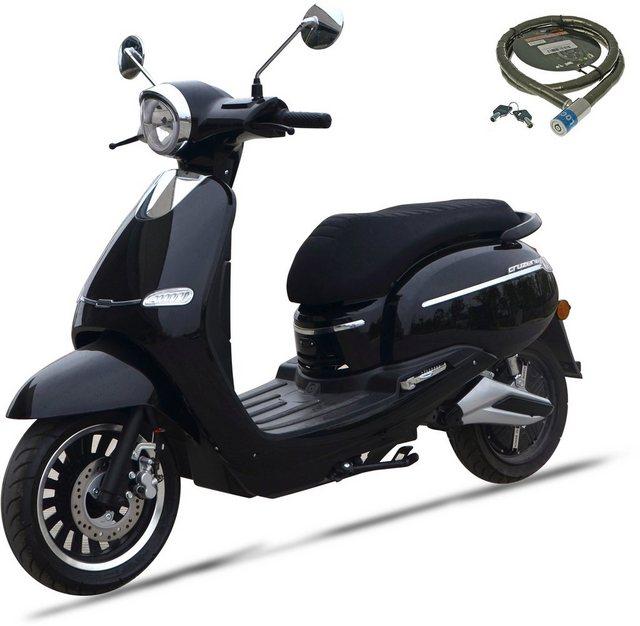 Nova Motors E-Motorroller »F 10«, 2400 W, 45 km/h, Euro 4, (Set, 2 tlg., mit Topcase), mit Bosch Elektromotor*