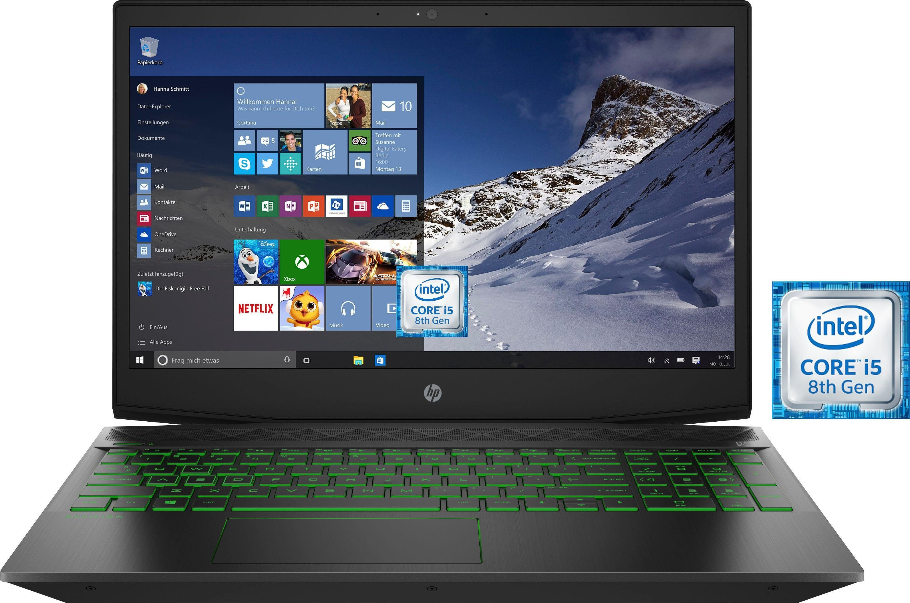 HP Pavilion 15-cx0002ng Notebook (39,6 cm/15,6 Zoll, Intel Core i5, 1000 GB HDD, 128 GB SSD, inkl. Office 365 Personal (ESD)