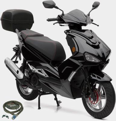 Nova Motors Motorroller »SP125i«, 125 ccm, 80 km/h, Euro 4, (Set, mit Topcase), 125 ccm, 80 km/h