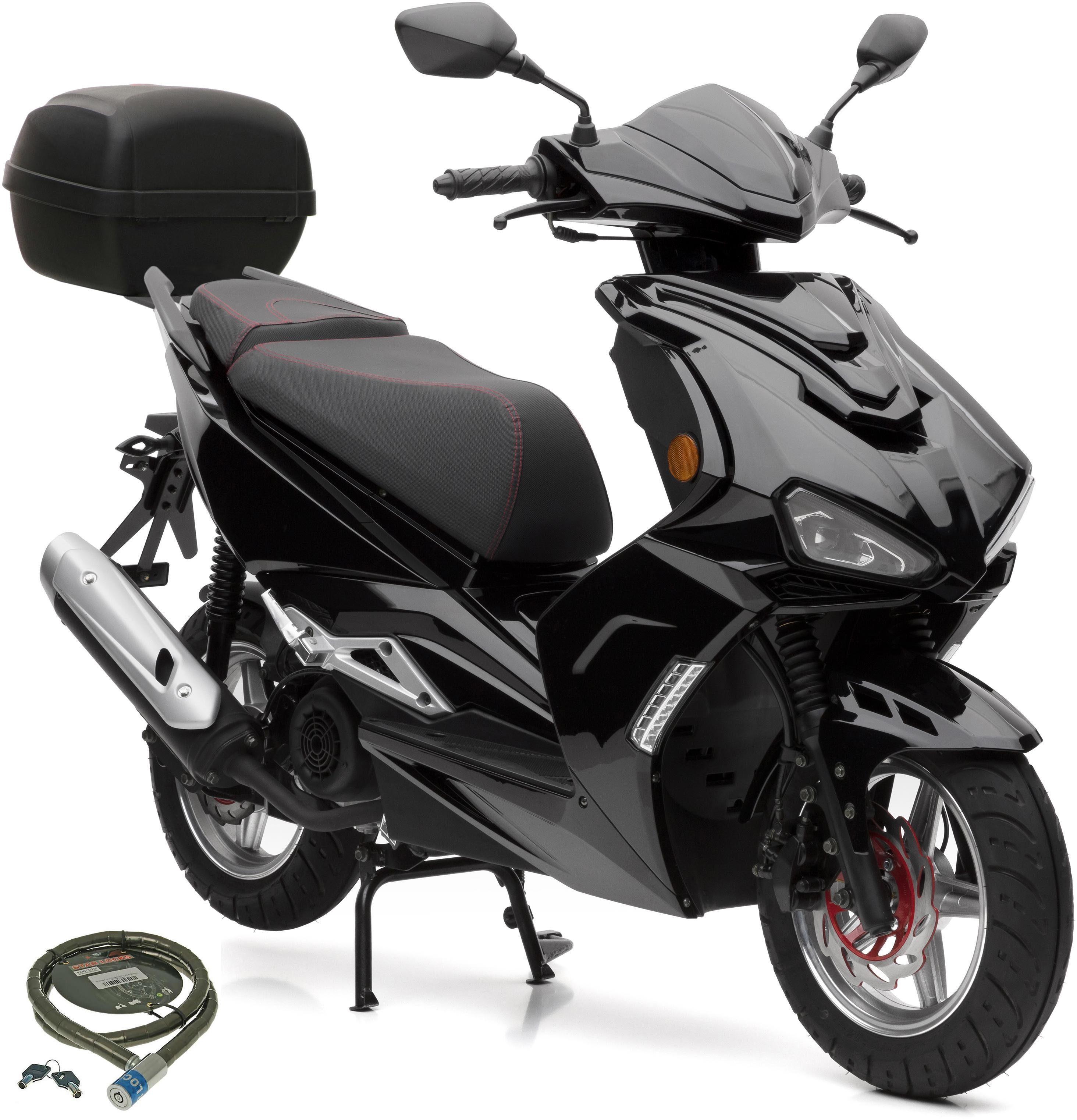 Nova Motors Motorroller »SP125i«, 125 ccm, 80 km/h, Euro 4, (Set, mit Topcase), inkl. Topcase, 125 ccm, 80 km/h