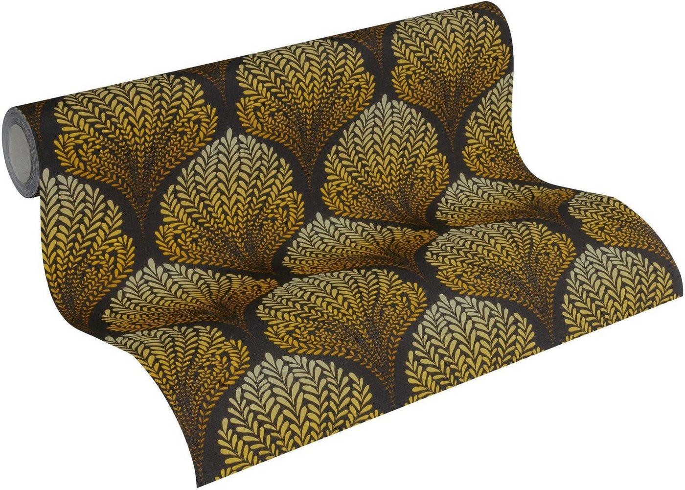 Vliestapete »Palila«, gemustert, floral, FSC®, RAL-Gütezeichen, schwer entflammbar nach DIN 4102 | Baumarkt > Malern und Tapezieren > Tapeten | Bunt | living walls