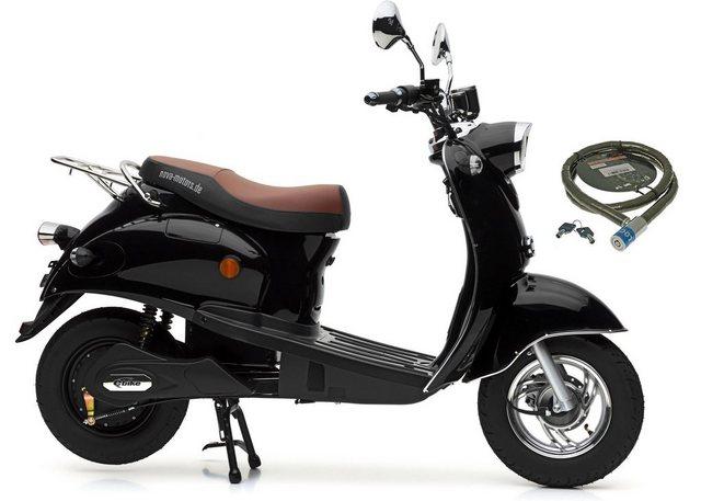 Nova Motors E-Motorroller »E-Retro Star«, 2000 W, 45 km/h, (Set, mit Topcase)*