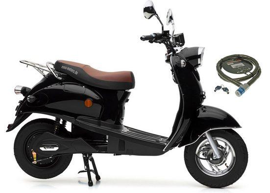 Nova Motors E-Motorroller »E-Retro Star«, 2000 W, 45 km/h, (Set, mit Topcase)
