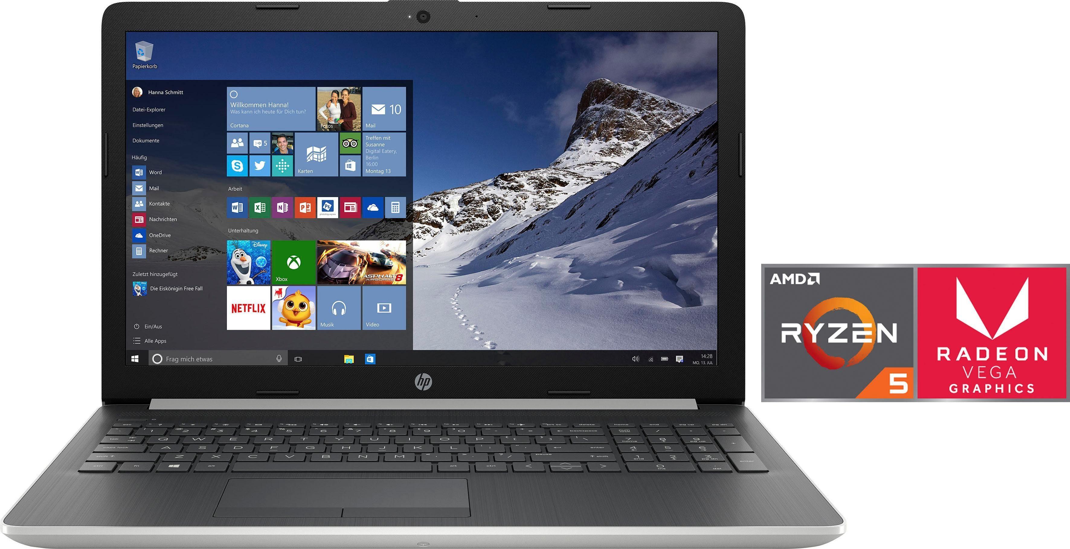 HP 15-db0009ng Notebook (39,6 cm/15,6 Zoll, AMD Ryzen 5, 1000 GB HDD, 128 GB SSD, inkl. Office 365 Personal (ESD)