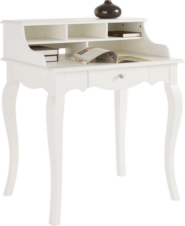 Schreibtisch weiß landhaus  Home affaire Schreibtisch im Landhaus-Stil, Breite 80 cm online kaufen |  OTTO