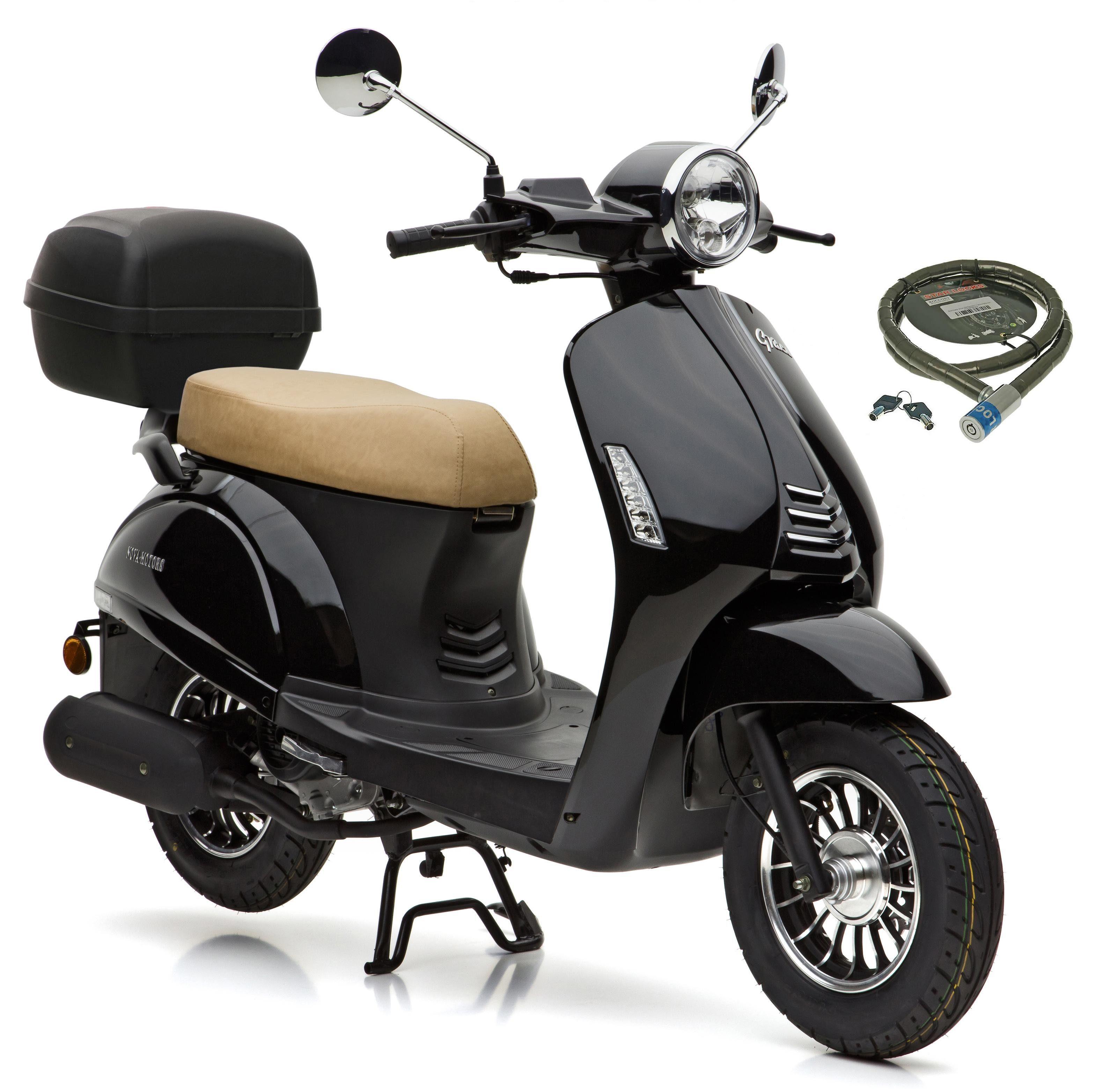 Nova Motors Motorroller »Grace«, 49 ccm, 45 km/h, Euro 4, (Set, mit Topcase), inkl. Topcase, 49 ccm, 45 km/h