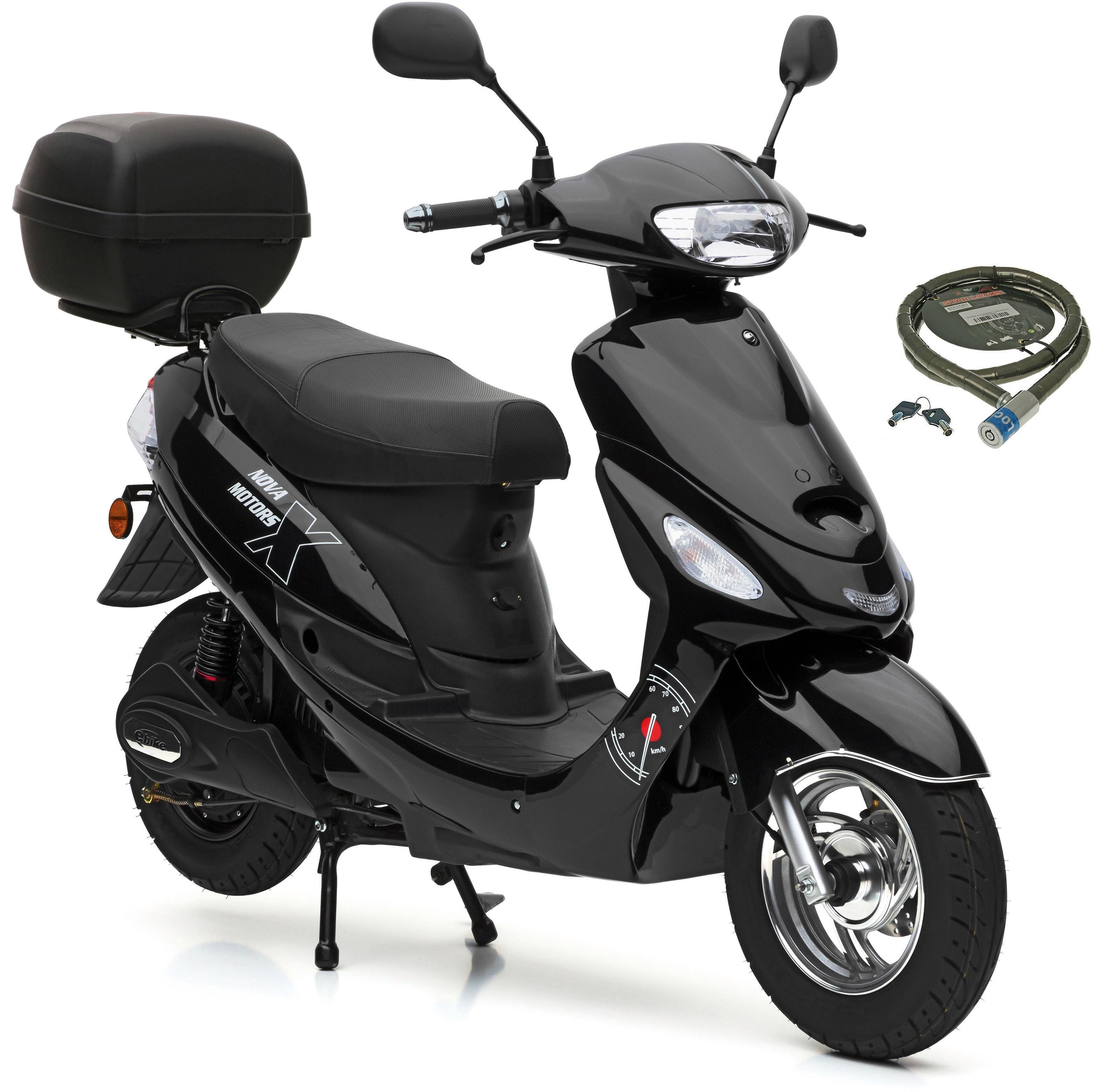 Nova Motors SET: E-Roller inkl. Topcase, 2000 Watt, 45 km/h, »E-City Star«