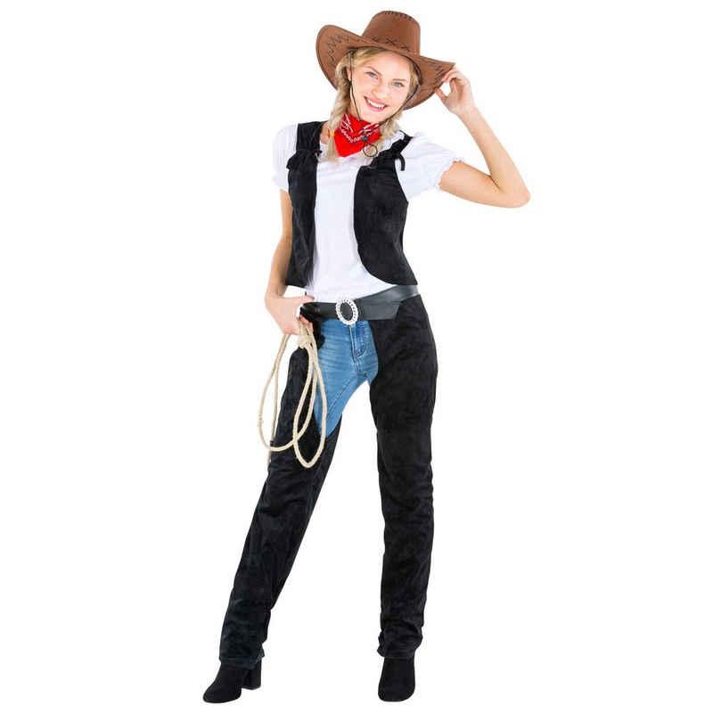 dressforfun Cowboy-Kostüm »Frauenkostüm Cowgirl wild Amber«