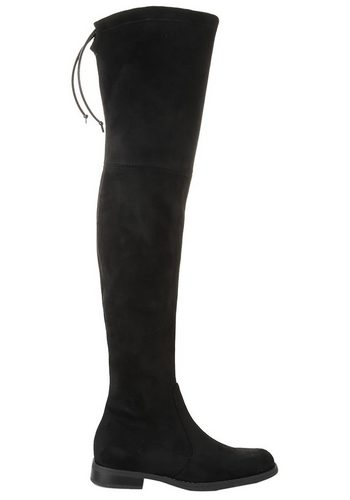 Damen Buffalo Overkneestiefel, Obermaterial aus Textil mit Stretchfunktion schwarz | 04057324280508