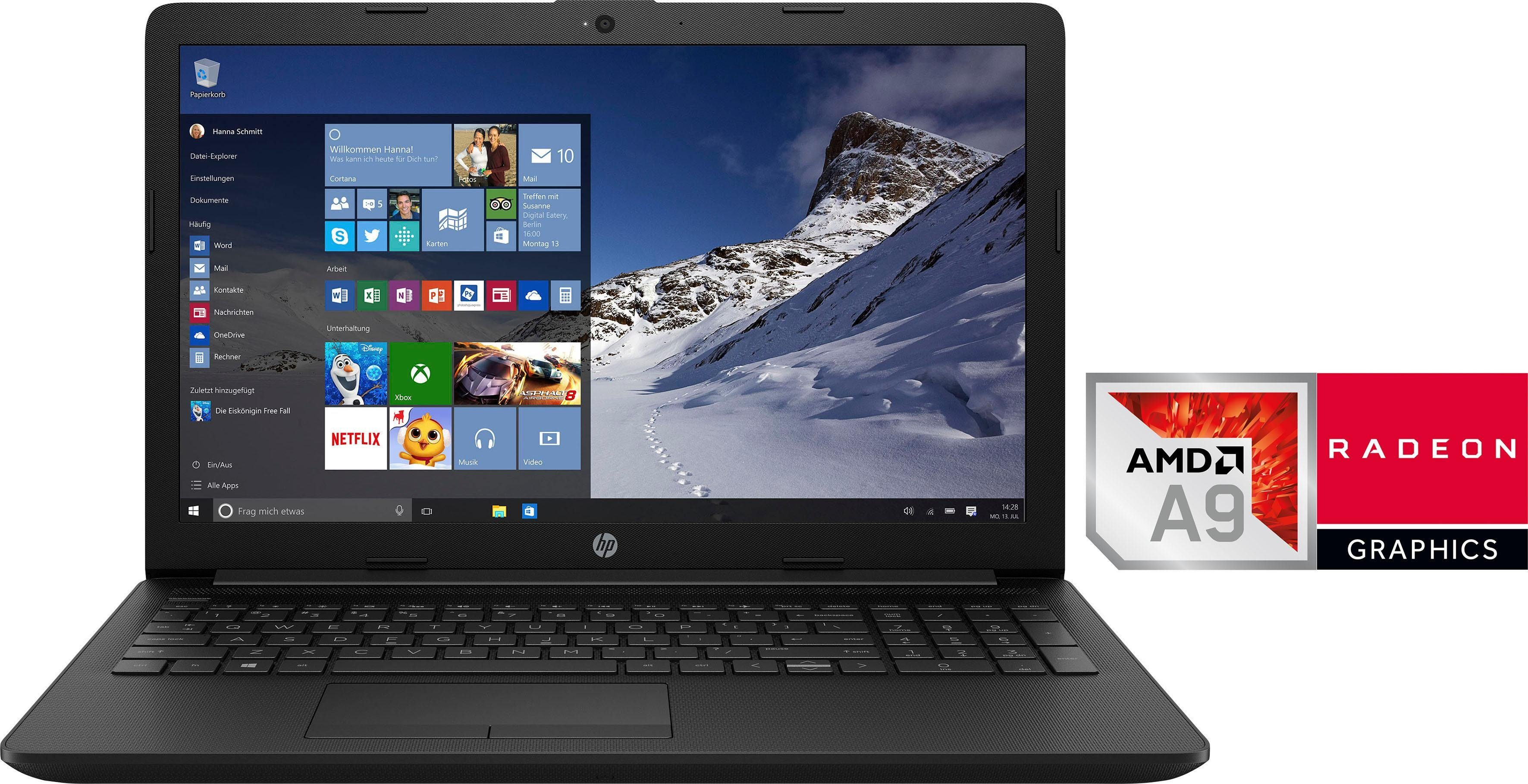 HP 15-db0201ng Notebook (39,6 cm/15,6 Zoll, AMD A9, 1000 GB HDD, 128 GB SSD, inkl. Office 365 Personal (ESD)