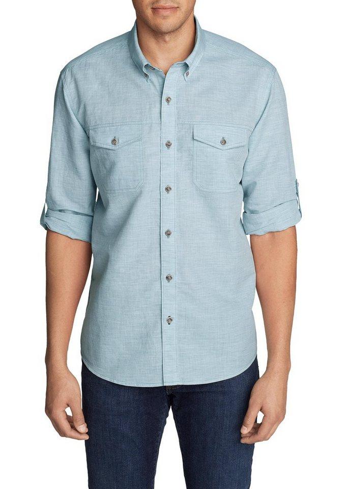 Eddie Bauer Langarmhemd Larrabee Pro Hemd - Langarm | Bekleidung > Hemden > Sonstige Hemden | Blau | Polyester - Baumwolle | Eddie Bauer