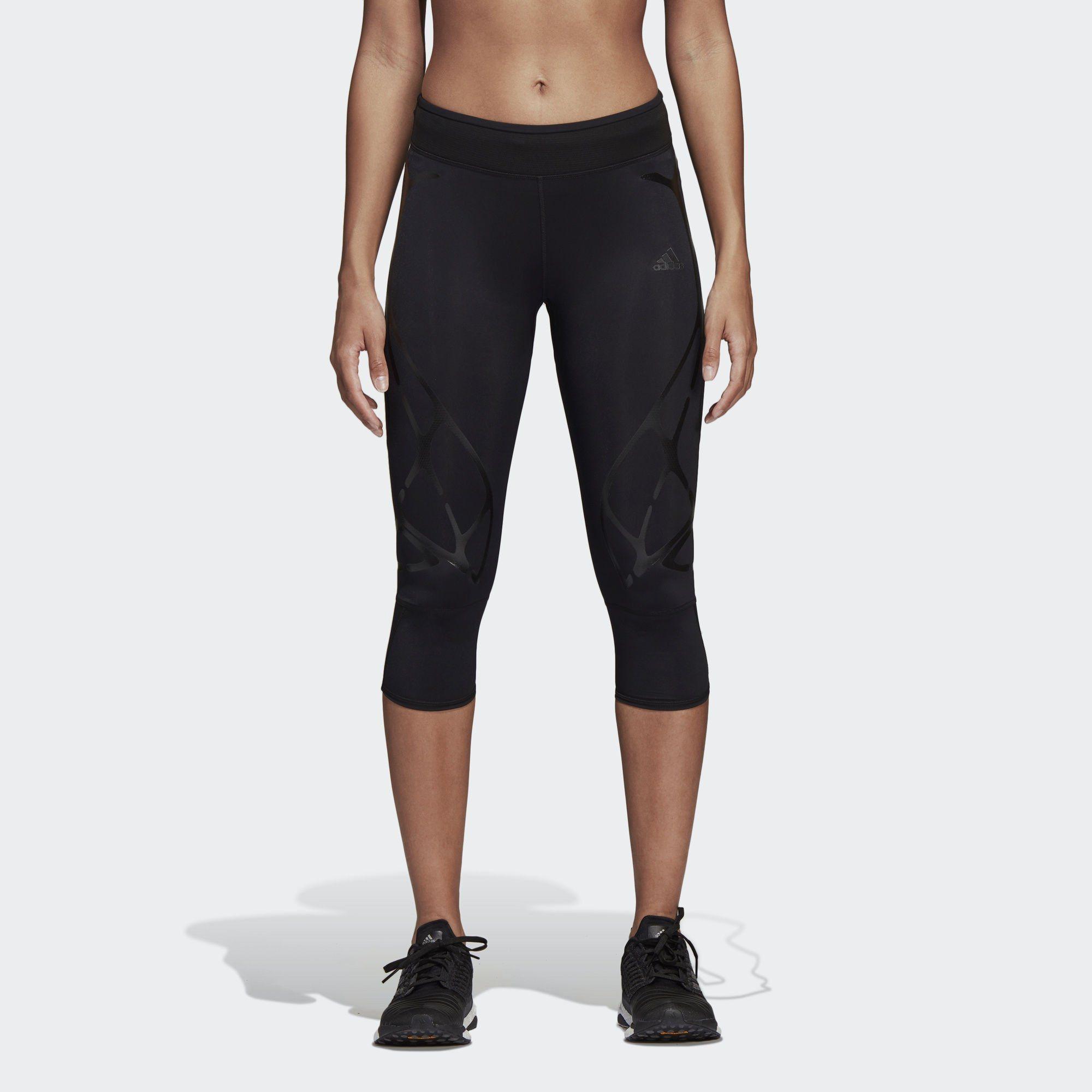 Damen adidas Performance Funktionstights Adizero Sprintweb 3/4 schwarz   04060509729556