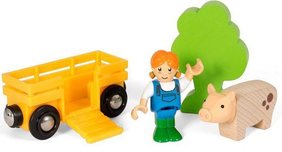 BRIO® Spielzeug-Eisenbahn »BRIO® WORLD Spielpäckchen Bäuerin mit Schwein«