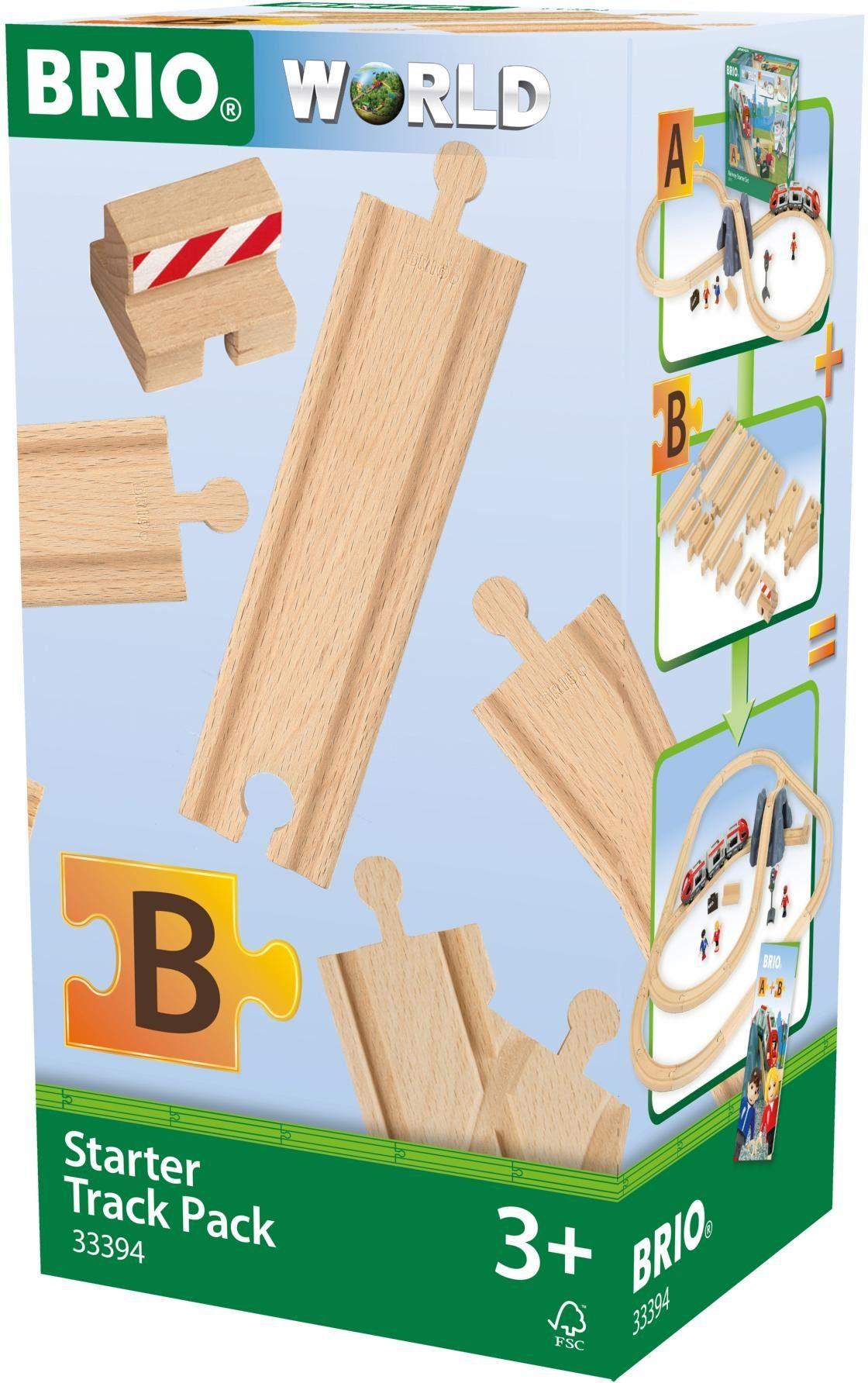 Brio® Ergänzungsset Holzschienensystem, »BRIO® WORLD Schienen Starter Pack B«