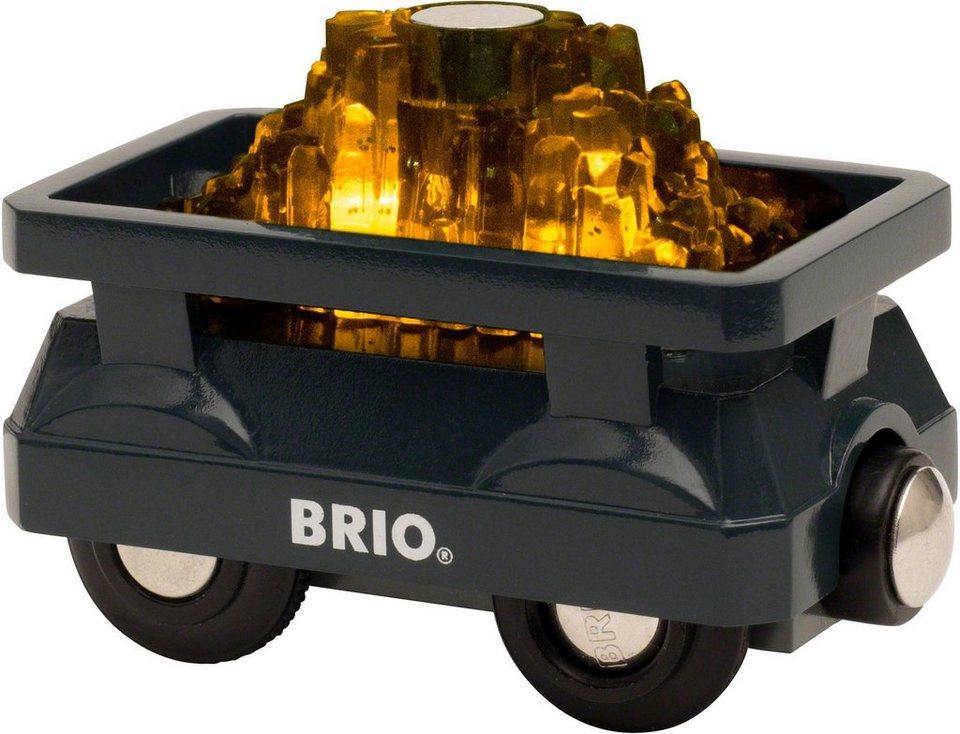 Brio® Zubehör für Spielzeugeisenbahn,  BRIO® WORLD Goldwaggon mit Licht  online kaufen