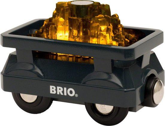 BRIO® Spielzeug-Eisenbahn »BRIO® WORLD Goldwaggon mit Licht«, für Spielzeugeisenbahn
