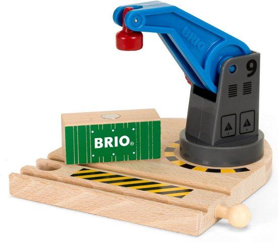 BRIO® Spielzeugeisenbahn-Erweiterung »BRIO® WORLD Eisenbahn-Magnetkran«