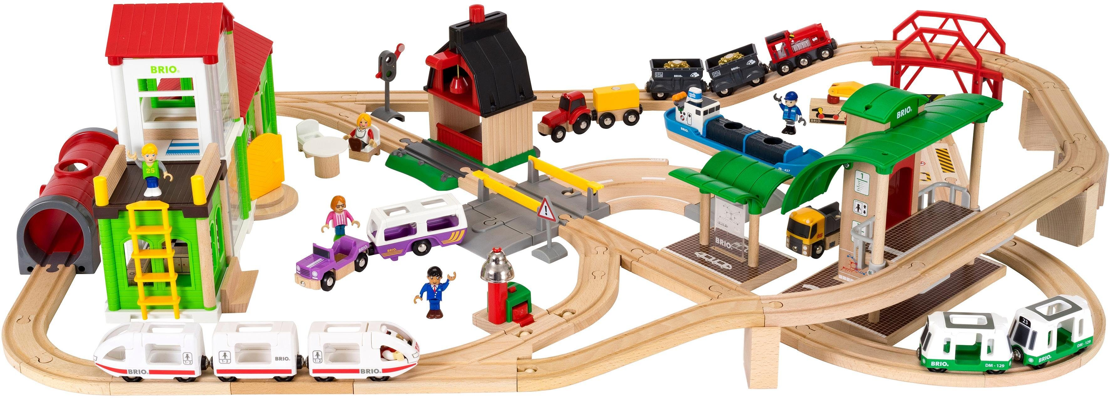 Brio® Holzeisenbahn Set, »BRIO® WORLD Set Deluxe«