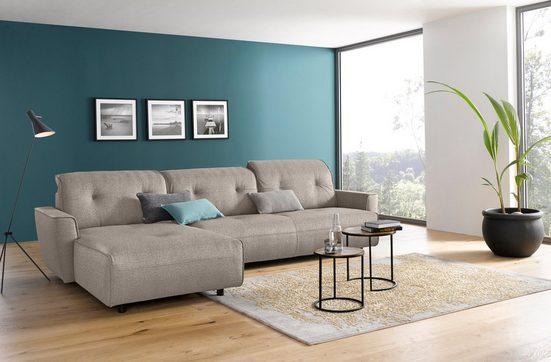 hülsta sofa Ecksofa »hs.400«, mit Rückenverstellung, Recamiere wahlweise links oder rechts