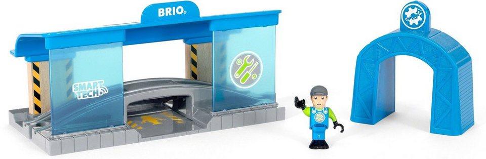 Brio Spielzeugeisenbahn Gebäude Brio World Smart Tech Eisenbahn Werkstatt Online Kaufen Otto