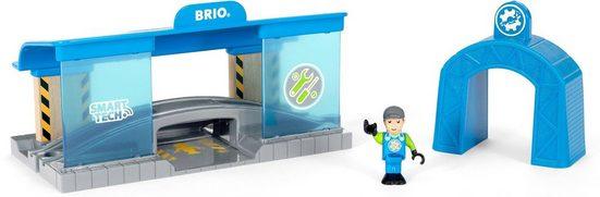 BRIO® Spielzeugeisenbahn-Gebäude »BRIO® WORLD Smart Tech Eisenbahn-Werkstatt«