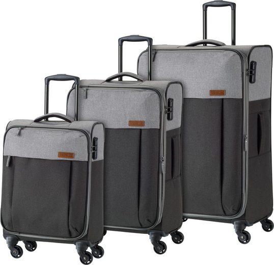 travelite Trolleyset »Neopak«, 4 Rollen, (Set, 3 tlg), mit 4 Rollen