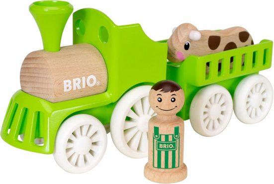 BRIO® Spielzeug-Eisenbahn »My Home Town Lok mit Kuh-Anhänger«, aus Holz