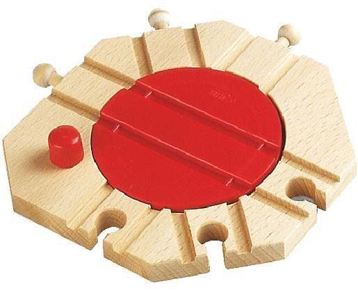 BRIO® Spielzeugeisenbahn-Kreuzung »BRIO® WORLD Mechanische Drehscheibe«