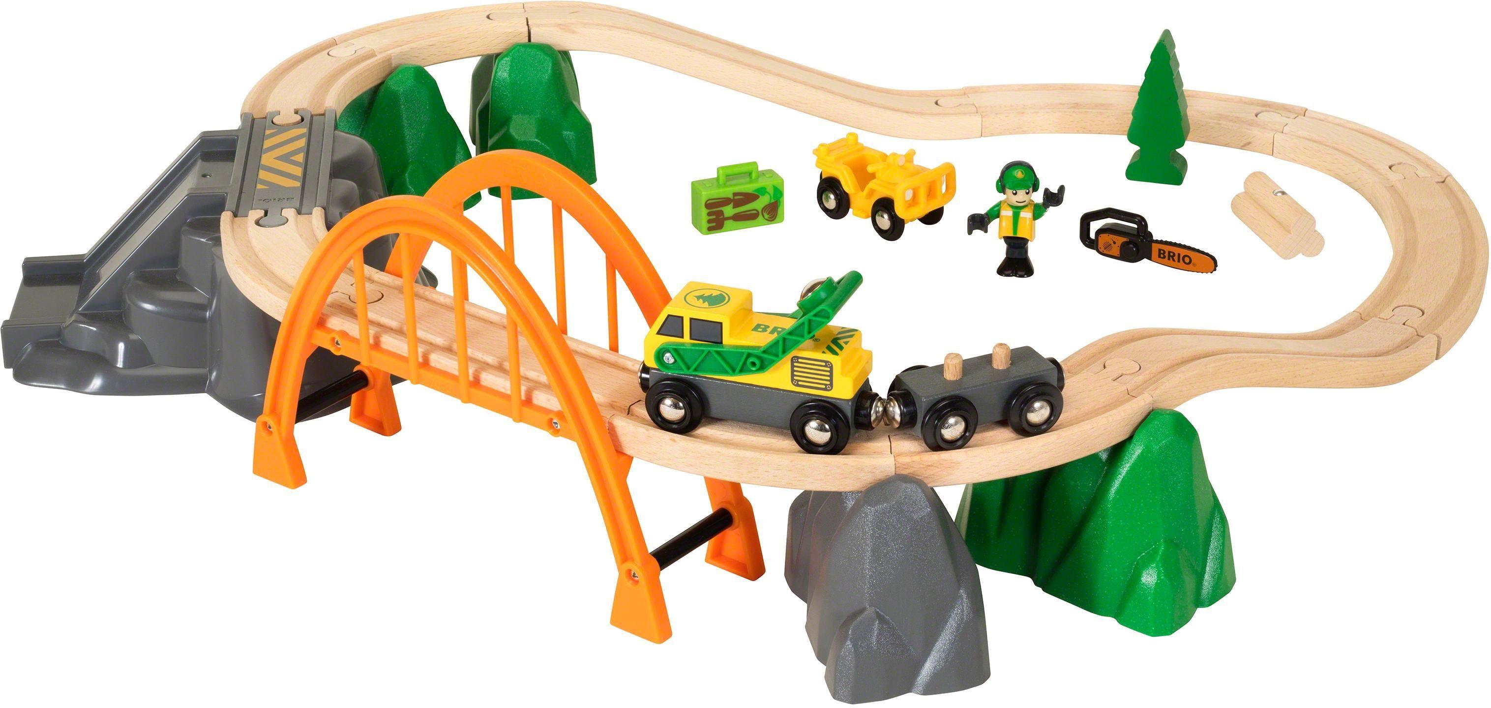 Brio® Holzeisenbahn Set, »BRIO® WORLD Bahn Waldarbeiter-Set«