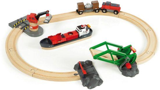 BRIO® Spielzeug-Eisenbahn »BRIO® WORLD Container Hafen Set«, (Set)