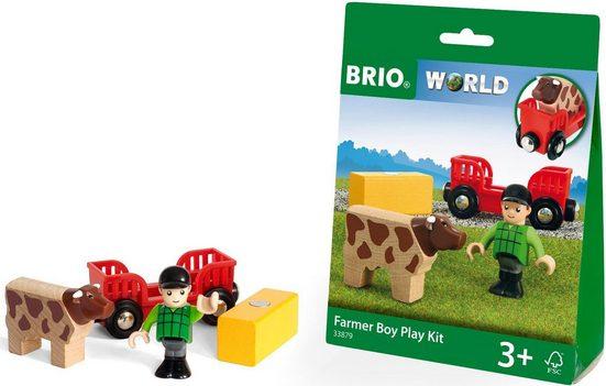 BRIO® Spielzeug-Eisenbahn »BRIO® WORLD Spielpäckchen Bauer mit Kuh«, für Spielzeugeisenbahn